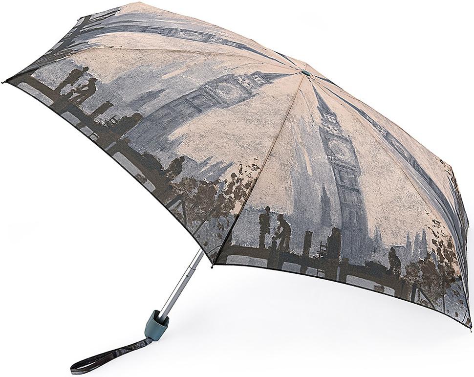 Зонт женский Fulton, механический, 5 сложений, цвет: бежевый, серый. L794-2728CX1516-50-10Стильный механический зонт Fulton имеет 5 сложений, даже в ненастную погоду позволит вам оставаться стильной. Легкий, но в тоже время прочный алюминиевый каркас состоит из шести спиц с элементами из фибергласса. Купол зонта выполнен из прочного полиэстера с водоотталкивающей пропиткой. Рукоятка закругленной формы, разработанная с учетом требований эргономики, выполнена из каучука. Зонт имеет механический способ сложения: и купол, и стержень открываются и закрываются вручную до характерного щелчка.