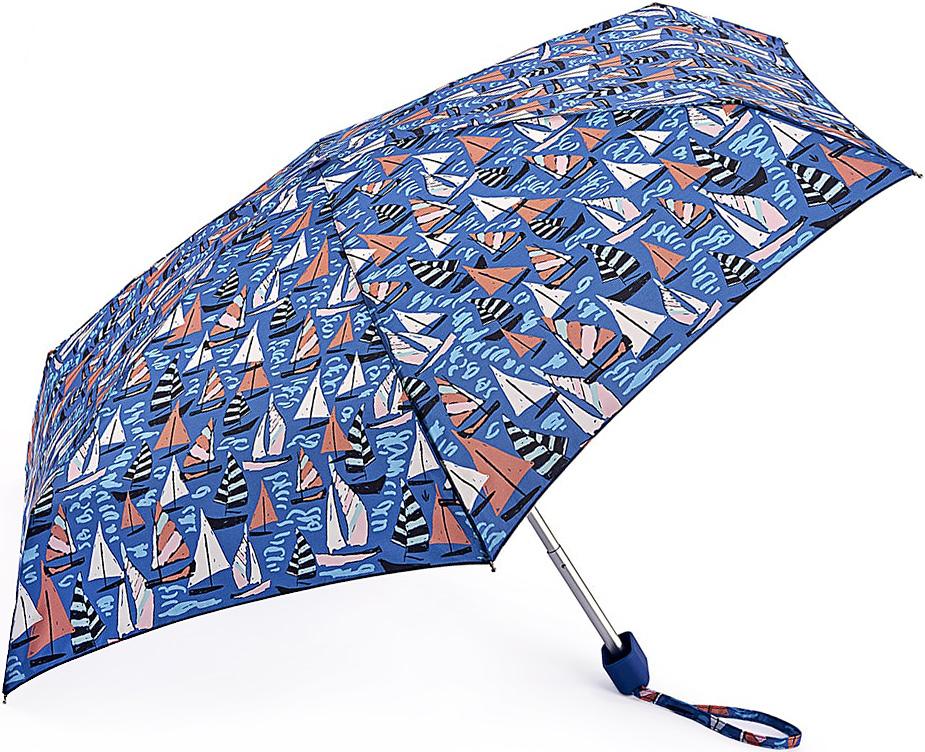 Зонт женский Fulton, механический, 5 сложений, цвет: синий. L501-3365REM12-BLACKСтильный механический зонт Fulton имеет 5 сложений, даже в ненастную погоду позволит вам оставаться стильной. Легкий, но в тоже время прочный алюминиевый каркас состоит из шести спиц с элементами из фибергласса. Купол зонта выполнен из прочного полиэстера с водоотталкивающей пропиткой. Рукоятка закругленной формы, разработанная с учетом требований эргономики, выполнена из каучука. Зонт имеет механический способ сложения: и купол, и стержень открываются и закрываются вручную до характерного щелчка.