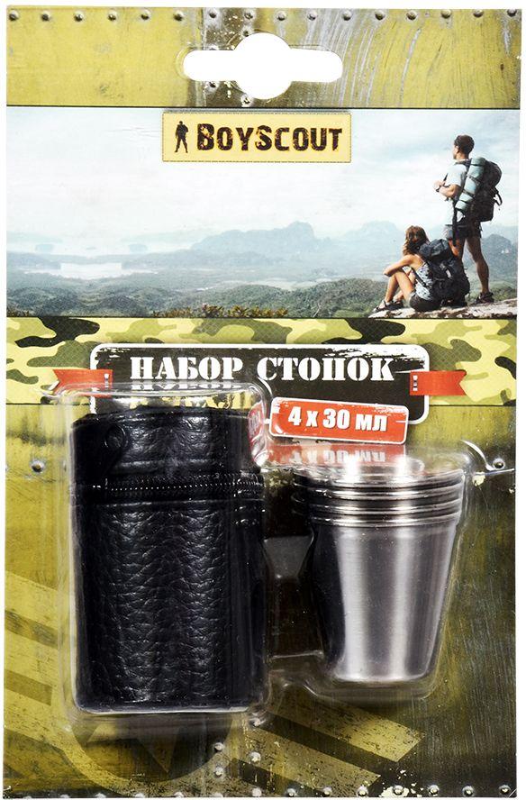 Набор стопок Boyscout, в чехле, 30 мл, 4 шт61114Набор стопок Boyscout идеально подходит для использования на пикнике, в походе. Удобно хранить, так как компактный и занимает мало места, кроме того для хранения предусмотрен чехол.