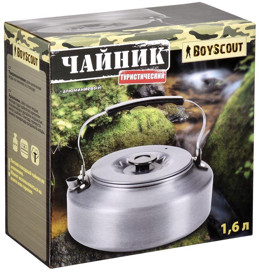 Чайник Boyscout Туристический, цвет: серебристый, 1,6 л914538Чайник Boyscout Туристический станет незаменимым помощником, для людей любящих путешествовать. Подходит для кипячения воды на пикнике и в походе. Изготовлен из нержавеющей стали.Объем: 1,6 л