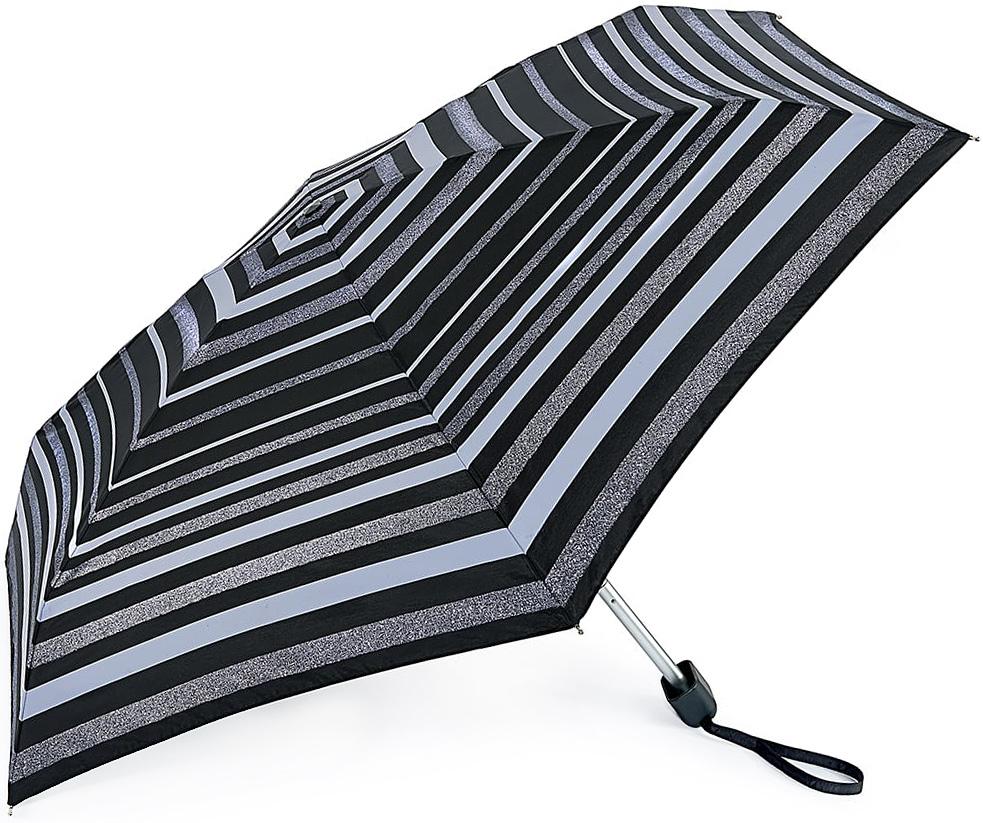 Зонт женский Fulton, механический, 5 сложений, цвет: черный, серый. L501-32732591АСтильный механический зонт Fulton имеет 5 сложений, даже в ненастную погоду позволит вам оставаться стильной. Легкий, но в тоже время прочный алюминиевый каркас состоит из шести спиц с элементами из фибергласса. Купол зонта выполнен из прочного полиэстера с водоотталкивающей пропиткой. Рукоятка закругленной формы, разработанная с учетом требований эргономики, выполнена из каучука. Зонт имеет механический способ сложения: и купол, и стержень открываются и закрываются вручную до характерного щелчка.