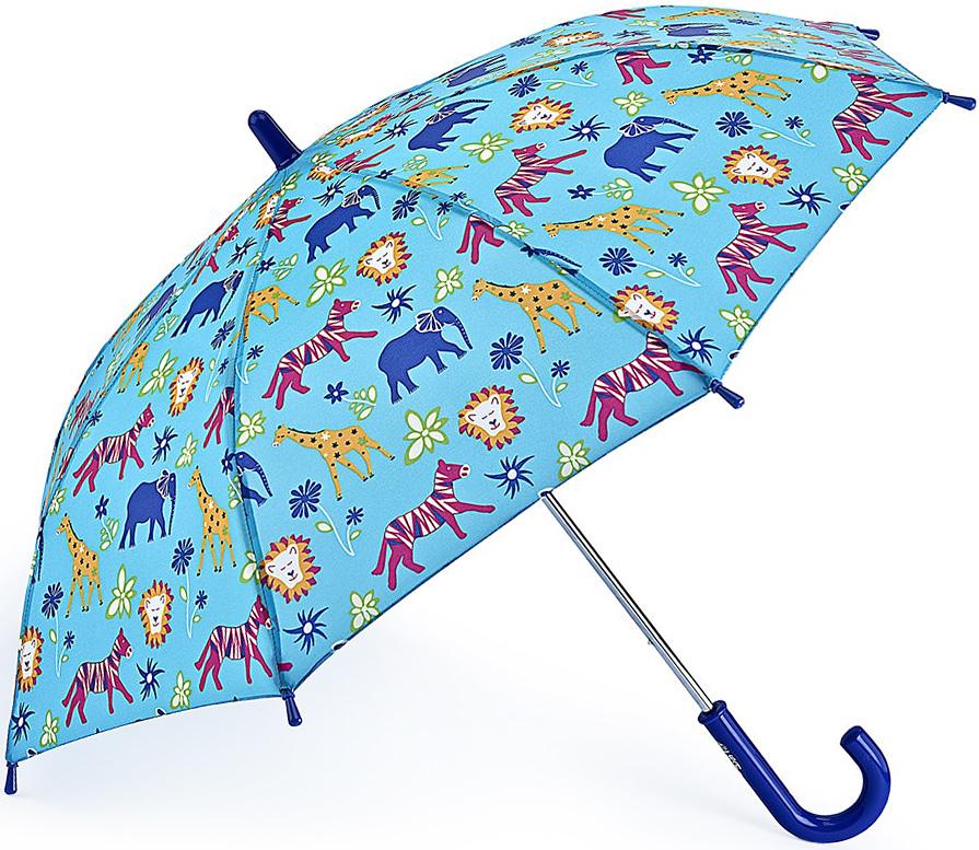 Зонт-трость детский Fulton, механический, цвет: голубой. C724-33901003-ZK1268/zЯркий механический зонт-трость Fulton даже в ненастную погоду позволит вашему ребенку оставаться стильным. Каркас зонта включает 8 спиц из фибергласса. Стержень изготовлен из прочного алюминия. Купол зонта выполнен из качественного полиэстера.Рукоятка закругленной формы, разработанная с учетом требований эргономики, выполнена из качественного пластика.Зонт механического сложения: купол открывается и закрывается вручную до характерного щелчка. Такой зонт не только надежно защитит вас от дождя, но и станет стильным аксессуаром, который идеально подчеркнет ваш неповторимый образ.