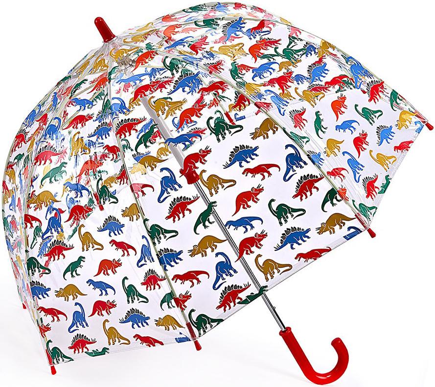 Зонт-трость детский Fulton, механический, цвет: прозрачный, мультиколор. C723-330045100095/32793/3500NЯркий механический зонт-трость Fulton даже в ненастную погоду позволит вашему ребенку оставаться стильным. Каркас зонта включает 8 спиц из фибергласса. Стержень изготовлен из стали. Купол зонта выполнен из износостойкого ПВХ.Рукоятка закругленной формы, разработанная с учетом требований эргономики, выполнена из качественного пластика.Зонт механического сложения: купол открывается и закрывается вручную до характерного щелчка. Такой зонт не только надежно защитит вас от дождя, но и станет стильным аксессуаром, который идеально подчеркнет ваш неповторимый образ.