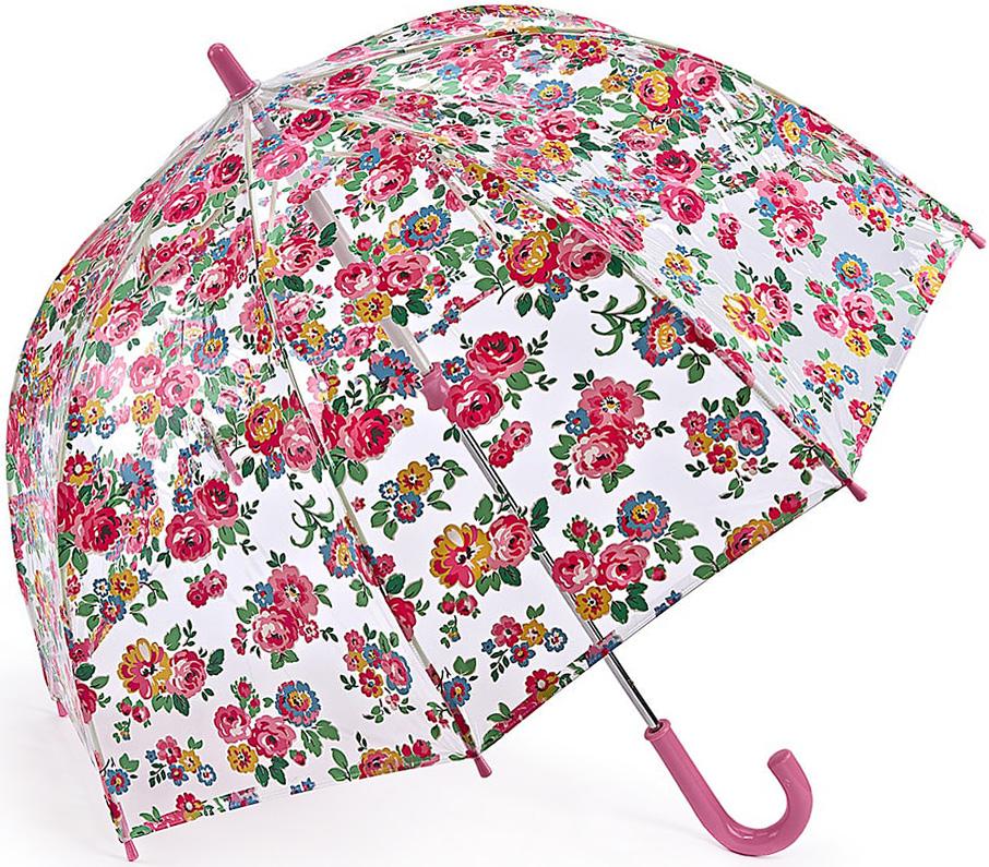 Зонт-трость детский Fulton, механический, цвет: розовый, прозрачный. C723-3301REM12-CAM-GREENBLACKЯркий механический зонт-трость Fulton даже в ненастную погоду позволит вашему ребенку оставаться стильным. Каркас зонта включает 8 спиц из фибергласса. Стержень изготовлен из стали. Купол зонта выполнен из износостойкого ПВХ.Рукоятка закругленной формы, разработанная с учетом требований эргономики, выполнена из качественного пластика.Зонт механического сложения: купол открывается и закрывается вручную до характерного щелчка. Такой зонт не только надежно защитит вас от дождя, но и станет стильным аксессуаром, который идеально подчеркнет ваш неповторимый образ.