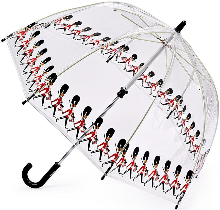 Зонт-трость детский Fulton, механический, цвет: черный, прозрачный. C605-3323Брошь-булавкаЯркий механический зонт-трость Fulton даже в ненастную погоду позволит вашему ребенку оставаться стильным. Каркас зонта включает 8 спиц из фибергласса. Стержень изготовлен из стали. Купол зонта выполнен из износостойкого ПВХ.Рукоятка закругленной формы, разработанная с учетом требований эргономики, выполнена из качественного пластика.Зонт механического сложения: купол открывается и закрывается вручную до характерного щелчка. Такой зонт не только надежно защитит вас от дождя, но и станет стильным аксессуаром, который идеально подчеркнет ваш неповторимый образ.