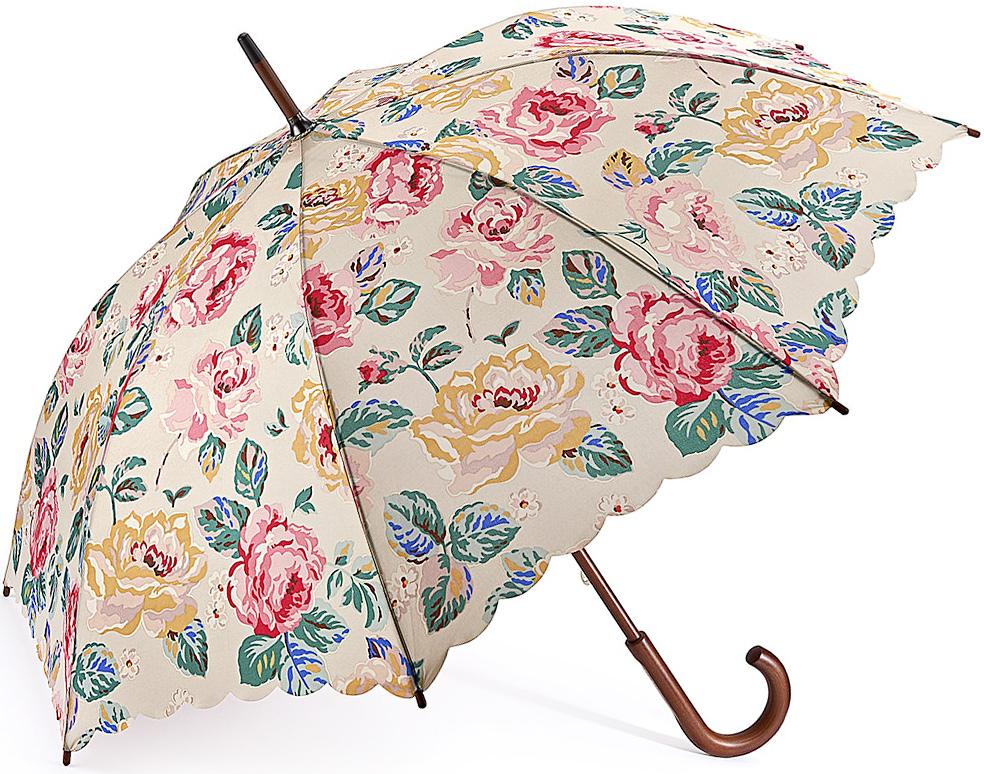 Зонт-трость женский Fulton, механический, цвет: бежевый, мультиколор. L541-3236CX1516-50-10Яркий механический зонт-трость Fulton даже в ненастную погоду позволит вам оставаться стильной и элегантной. Каркас зонта включает 8 спиц из фибергласса. Стержень изготовлен качественного дерева. Купол зонта выполнен из высококачественного полиэстера.Рукоятка закругленной формы, разработана с учетом требований эргономики.Зонт механического сложения: купол открывается и закрывается вручную до характерного щелчка. Такой зонт не только надежно защитит вас от дождя, но и станет стильным аксессуаром, который идеально подчеркнет ваш неповторимый образ.