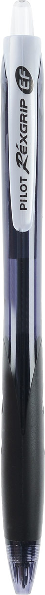 Pilot Ручка шариковая Rexgrip цвет чернил черный 0,5 мм96536Шариковая ручка Pilot Rexgrip представлена в полупрозрачном черном корпусе с прорезиненной вставкой в месте обхвата. Ручка имеет ультрасовременную обтекаемую форму. Диаметр шарика - 0,5 мм, Толщина линии - 0,25 мм. Цвет чернил - черный.