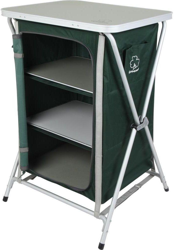 Стеллаж складной Greenell  FR-1 , цвет: зеленый, 60 х 58 х 980 см - Складная и надувная мебель