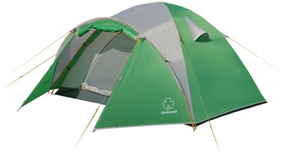 Палатка Greenell Дом 2, цвет: зеленый, светло-серыйKOC2028LEDТуристическая палатка Greenell Дом 2 имеет очень просторный и удобный тамбур. Размеры палатки позволяют чувствовать себя комфортно во время сна и при укрытии от непогоды.Антимоскитные сетки, расположенные на входе и окнах, хорошо защитят от насекомых.Объемный тамбур позволяет разместить много снаряжения.Водостойкость тента (мм/в.ст.): 2000.Возможна установка без тента.