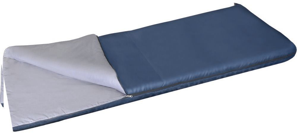 Спальный мешок одеяло Greenell Бирр +6, цвет: синий, правая молния22021CБлагодаря простоте конструкции, спальные мешки легко превращаются в двух спальные одеяла, которые можно использовать не только на природе, но и на даче. Разьемная молния позволяет соединять два мешка вместе, увеличивая объем вдвое. Приезд гостей не застанет вас врасплох, так как у вас в запасе всегда будут для них прекрасные одеяла.