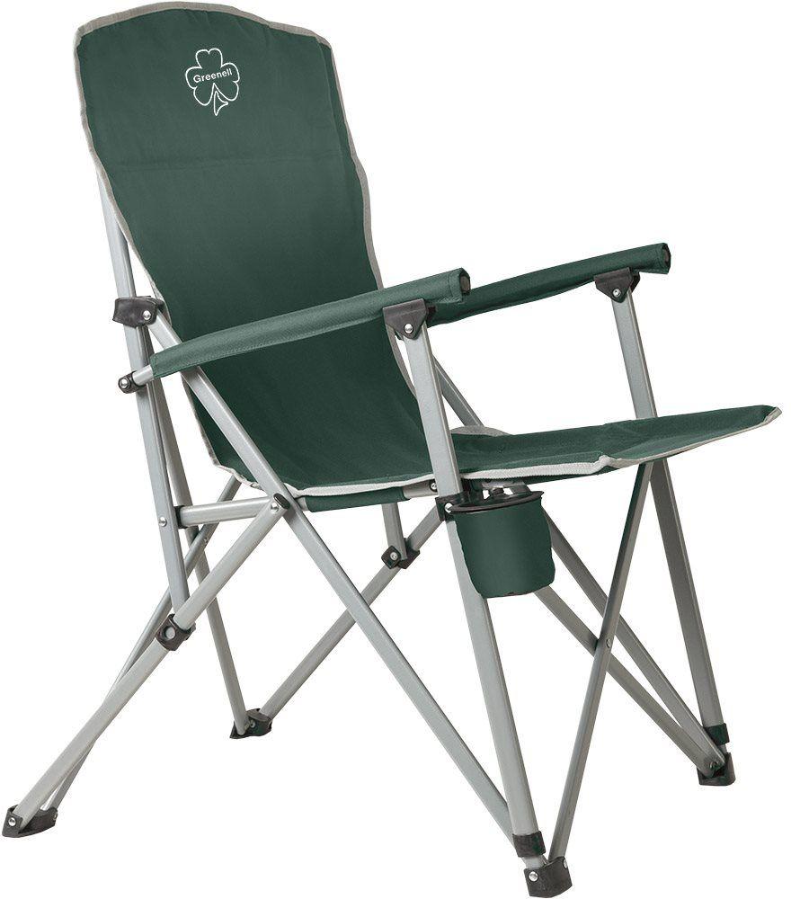 Кресло складное Greenell FC-7 V2, цвет: зеленый, 150 кгC0038550Складное кресло Greenell очень удобно для отдыха на природе, рыбалке, в походе.Оно компактно складывается в чехол и занимает мало места.Стальной каркас кресла рассчитан на нагрузку до 150 кг.