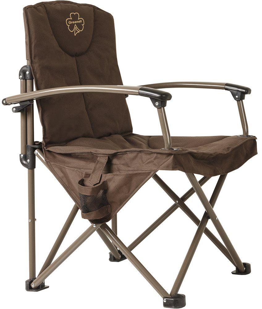 Кресло складное Greenell Элит FC-24, цвет: коричневый, 150 кгKOCAc6009LEDСкладное кресло Элит FC-24 очень прочное и комфортное. Оно компактно в сложенном виде и занимает мало места, также имеется чехол с ручкойдля удобства транспортировки.Максимальная нагрузка: 150 кг.