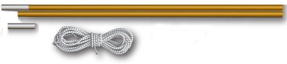 Комплект для дуг фиберглас Greenell V2, цвет: желтый, диаметр 9,5 мм ремкомплекты для туристических палаток greenell ремкомплект 2 для палаток