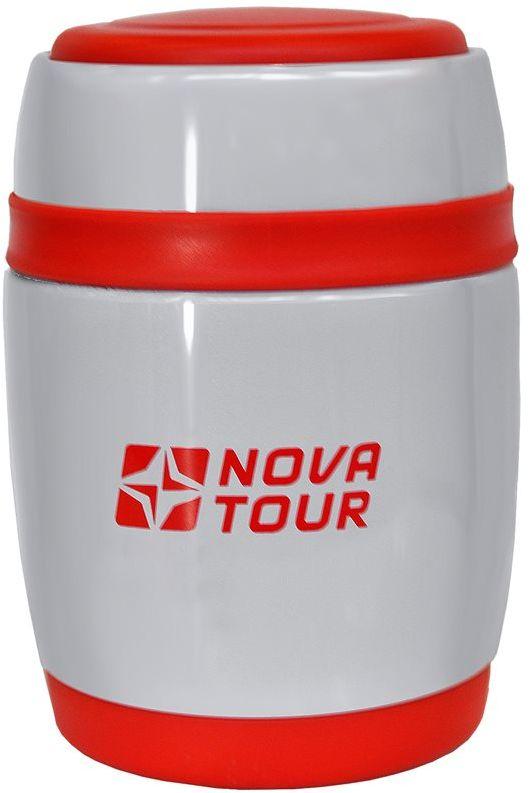 Термос Nova Tour Ланч 380, цвет: белый, красный, 0,38 л115510Современный и функциональный термос Nova Tour Ланч 380 с широким горлом выполнен из пищевой нержавеющей стали. Широкое горло дает возможность использовать изделие для первых и вторых блюд. Термос оснащен поворотным клапаном (достаточно повернуть пробку на пол-оборота, чтобы налить содержимое из термоса). Клапан дает возможность при наливании не открывать термос целиком для меньшего охлаждения содержимого.Теперь вы в любое время и в любом месте сможете насладиться вашим любимым напитком.Диаметр корпуса: 9 cм.Высота: 16 cм.Объем: 0,38 л.Диаметр горловины: 8 cм.