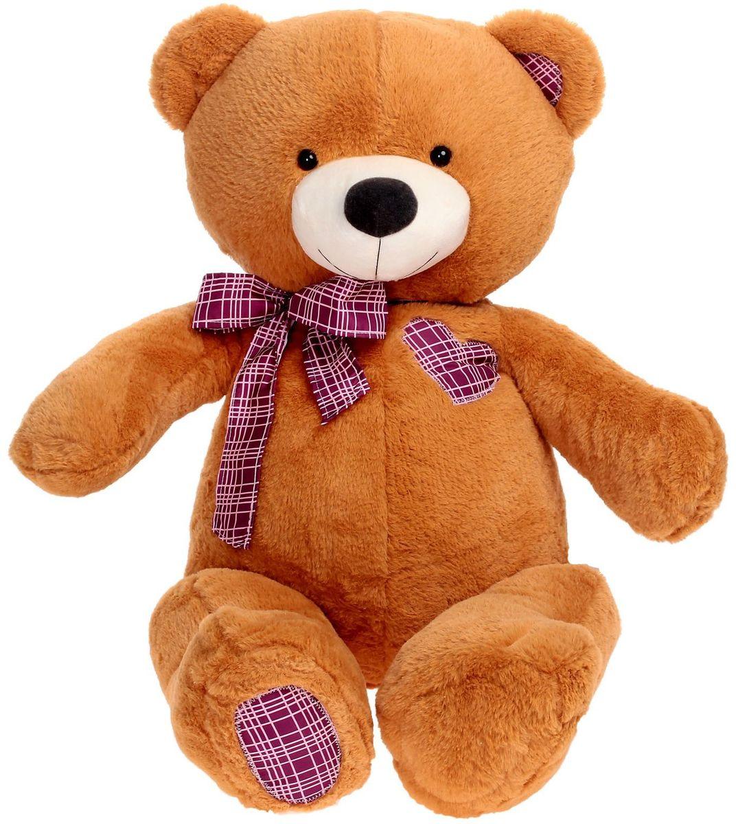 Плюшевый шар Мягкая игрушка Медведь цвет коричневый 70 см 2085574