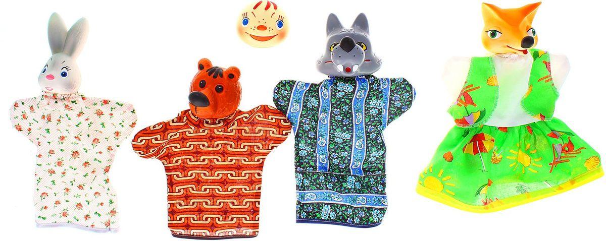 Sima-land Набор мягких игрушек на руку Колобок 5 персонажей 534032 sima land набор мягких игрушек на руку теремок 6 персонажей 477058