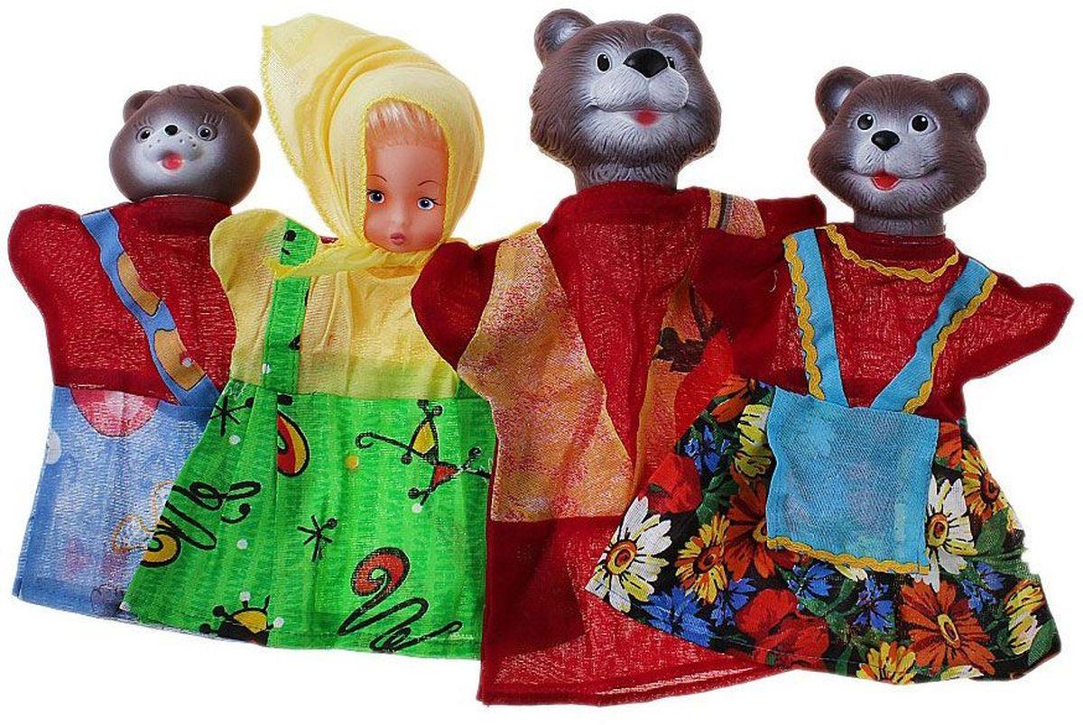 Sima-land Набор мягких игрушек на руку Три медведя 4 персонажа 645182 sima land набор мягких игрушек на руку теремок 6 персонажей 477058