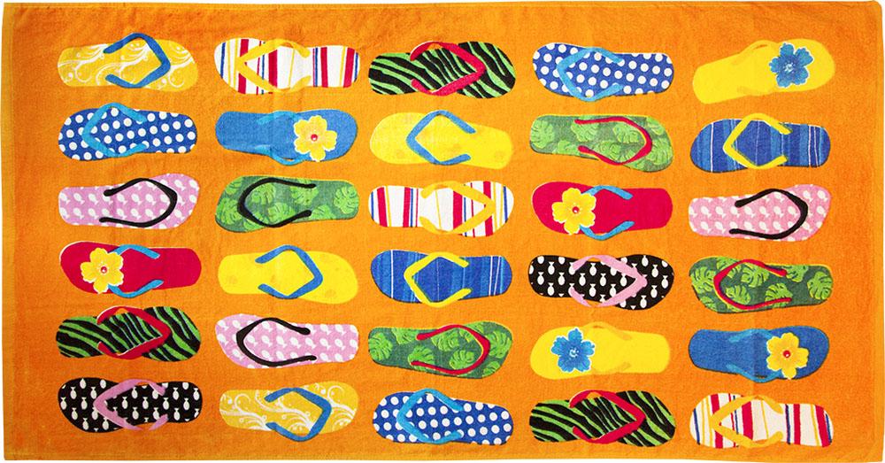 Полотенце пляжное Bonita, махровое, цвет: оранжевый, 75 x 150 см531-105Размер: 75*150. Состав: 100% хлопок. Страна изготовителя: Китай
