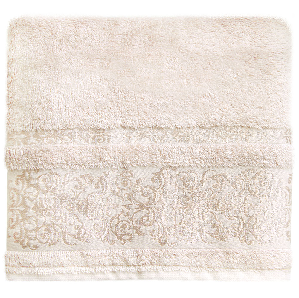 Полотенце банное Bonita Дамаск, цвет: бежевый, 50 x 90 смNLED-410-1W-YБанное полотенце Bonita Дамаск выполнено из 30% хлопка и 70% бамбука. Изделие отлично впитывает влагу, быстро сохнет, сохраняет яркость цвета и не теряет форму даже после многократных стирок. Такое полотенце очень практично и неприхотливо в уходе. Оно создаст прекрасное настроение и украсит интерьер в ванной комнате.