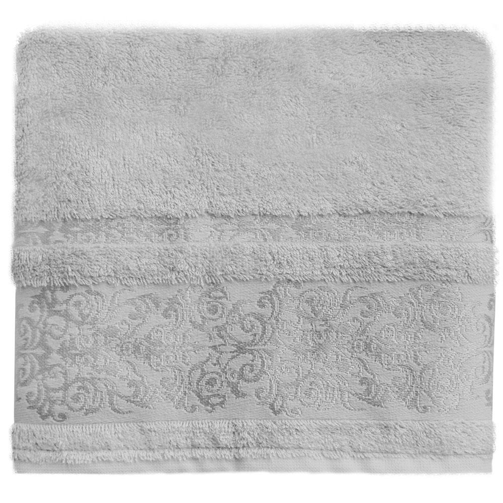 Полотенце банное Bonita Дамаск, цвет: серый, 50 x 90 см531-105Банное полотенце Bonita Дамаск выполнено из 30% хлопка и 70% бамбука. Изделие отлично впитывает влагу, быстро сохнет, сохраняет яркость цвета и не теряет форму даже после многократных стирок. Такое полотенце очень практично и неприхотливо в уходе. Оно создаст прекрасное настроение и украсит интерьер в ванной комнате.