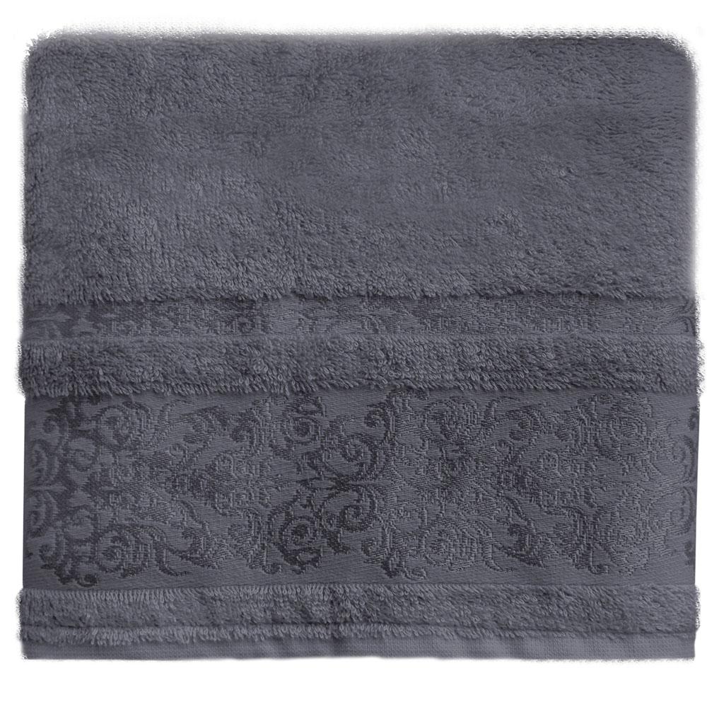 Полотенце банное Bonita Дамаск, цвет: антрацит, 70 x 140 см531-105Банное полотенце Bonita Дамаск выполнено из 30% хлопка и 70% бамбука. Изделие отлично впитывает влагу, быстро сохнет, сохраняет яркость цвета и не теряет форму даже после многократных стирок. Такое полотенце очень практично и неприхотливо в уходе. Оно создаст прекрасное настроение и украсит интерьер в ванной комнате.