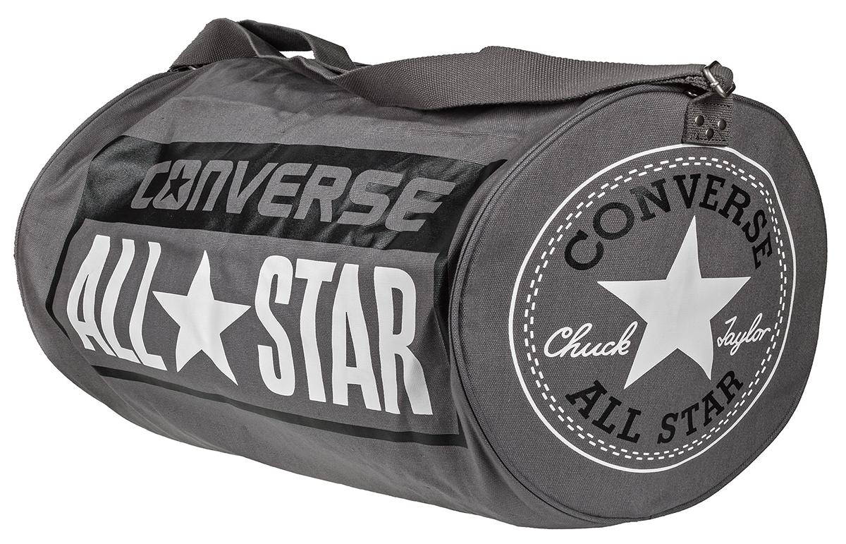 Сумка Converse Ss17 Legacy Barrel Duffel Bag, цвет: серый. 10422C410-A01-01071069с-2Сумка Converse выполнена из хлопка. Модель с одним отделением застегивается на молнию, оснащена регулируемым по длине плечевым ремнем.