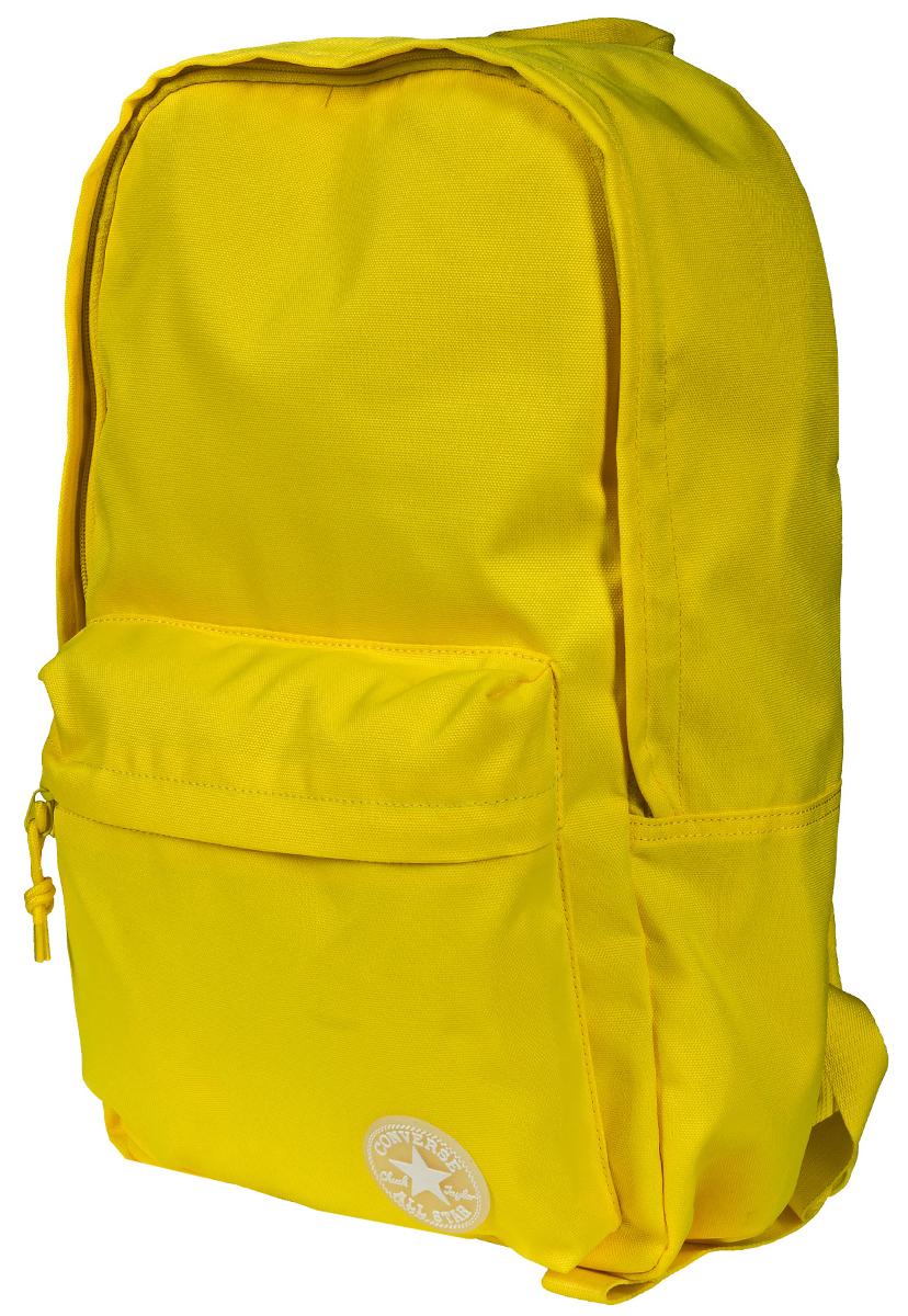 Рюкзак городской Converse Edc Poly Backpack, цвет: желтый. 10003330720RivaCase 8460 blackРюкзак городской Converse выполнен из полиэстера. Модель с одним отделением застегивается на молнию. Передняя стенка оформлена объемным карманом на молнии. Внутри имеется вместительный карман. Рюкзак оснащен широкими регулируемыми по длине плечевыми лямками и петлей для подвешивания.