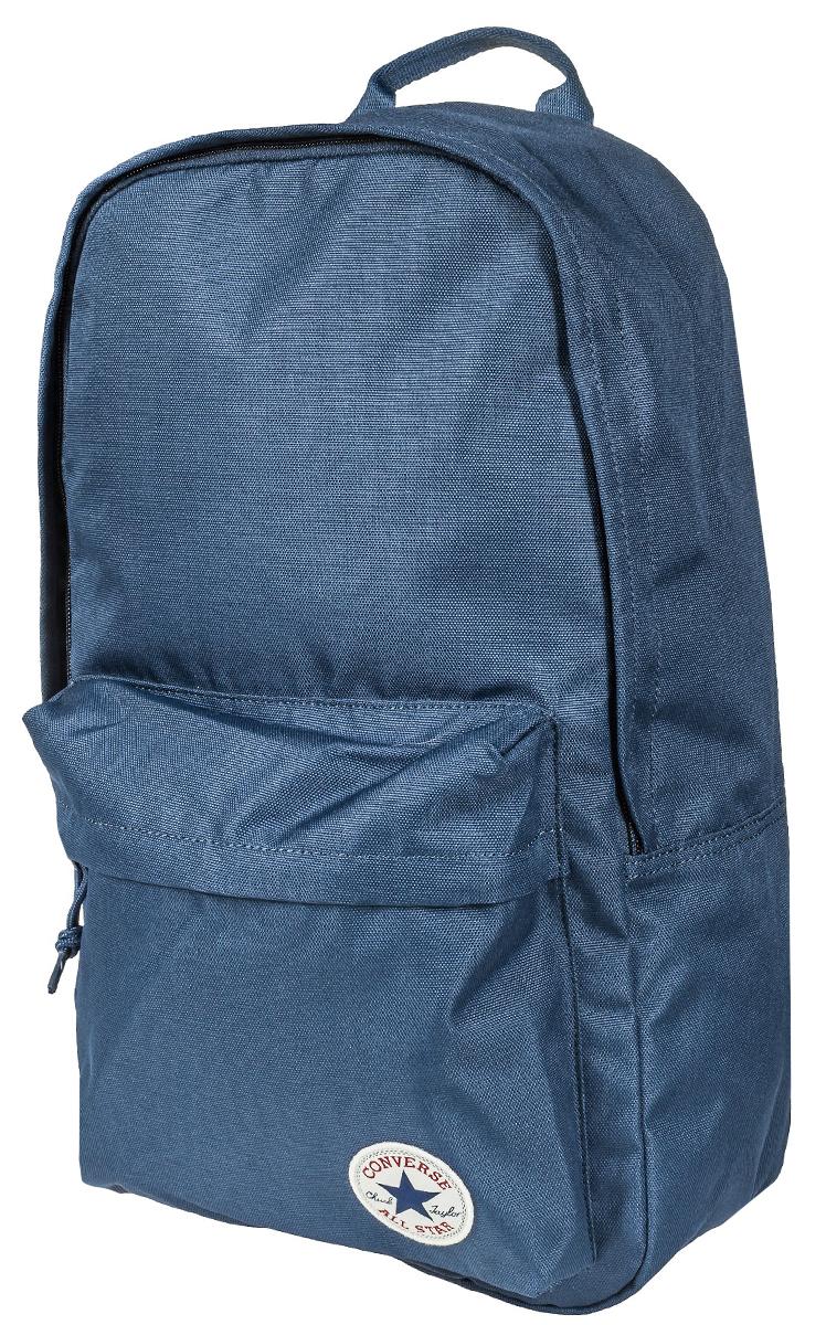 Рюкзак городской Converse Edc Poly Backpack, цвет: синий. 10003329410Z90 blackРюкзак городской Converse выполнен из полиэстера. Модель с одним отделением застегивается на молнию. Передняя стенка оформлена объемным карманом на молнии. Внутри имеется вместительный карман. Рюкзак оснащен широкими регулируемыми по длине плечевыми лямками и петлей для подвешивания.