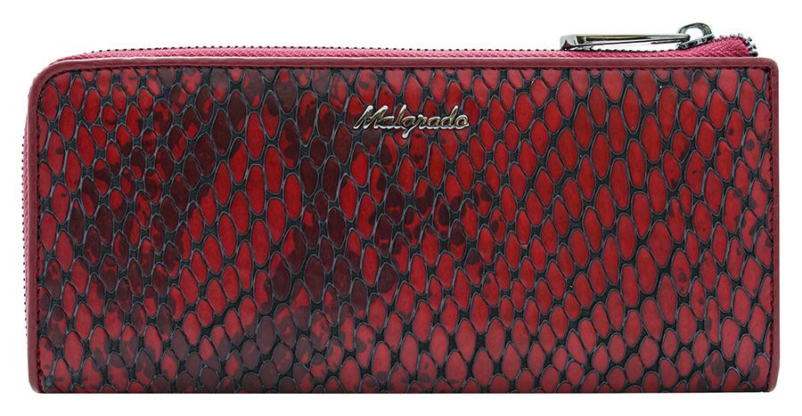 Клатч-кошелек женский Malgrado, цвет: красный. 76002-52501490300нЭлегантный клатч-кошелек Malgrado изготовлен из высококачественной натуральной кожи с фактурным тиснением под кожу рептилии, оформлен металлической фурнитурой с символикой бренда.Изделие закрывается на застежку-молнию. Внутри расположены: два отделения для купюр, карман для мелочи на застежке-молнии, два кармана для мелких документов, двенадцать кармашков для визиток и кредитных карт. На тыльной стороне изделия расположен прорезной карман на застежке-молнии. Изделие упаковано в фирменную металлическую коробку.Стильный кошелек не оставит равнодушной ни одну представительницу прекрасной половины человечества.