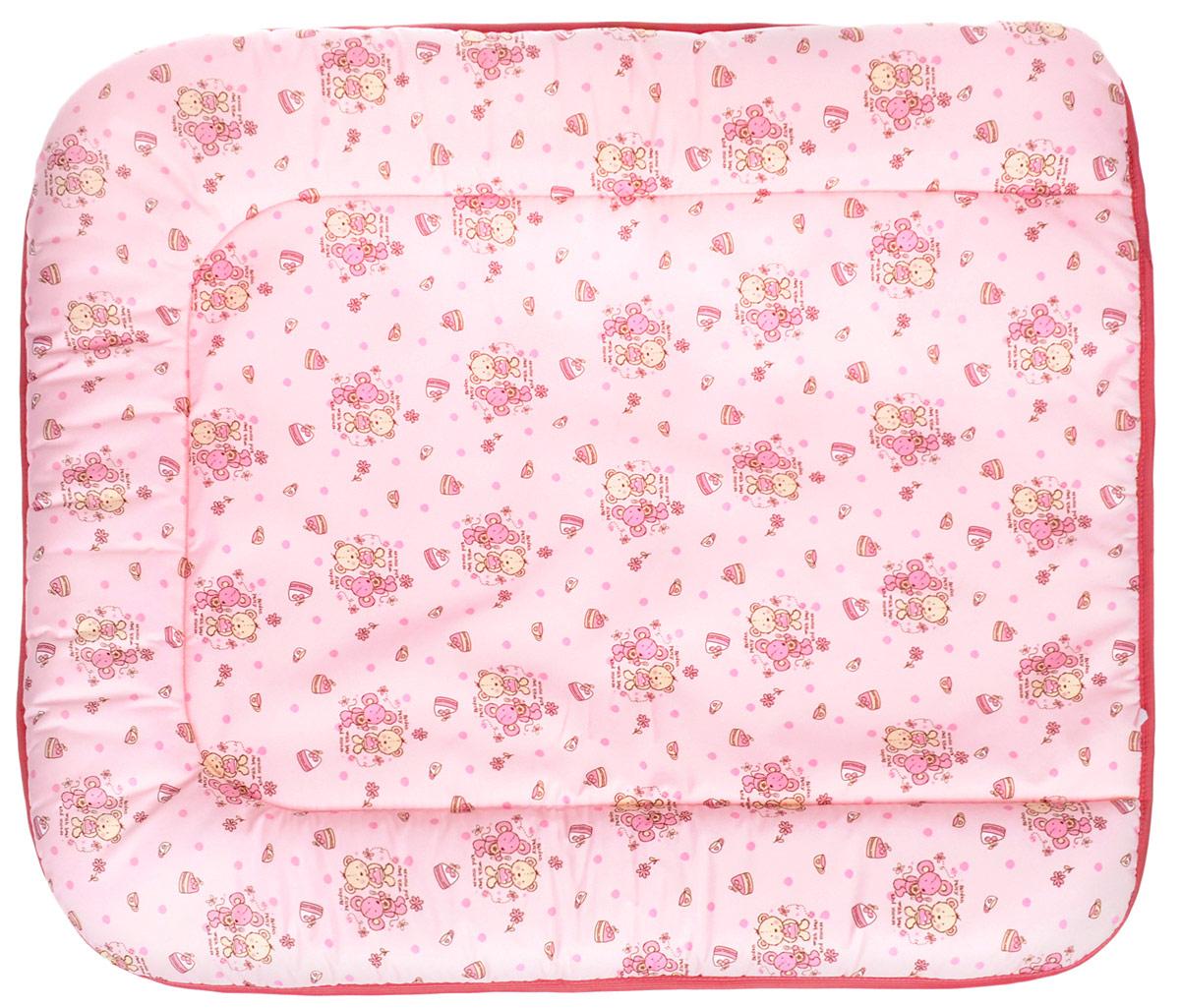 Фея Доска пеленальная на комод Животные цвет светло-розовый -  Позиционеры, матрасы для пеленания