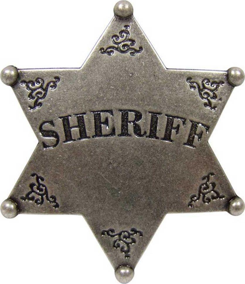Звезда Шерифа шестиконечная. РепликаD7/101В США шериф округа, является шефом окружной полиции и чаще всего, это слово там используется именно в этом значении. Должность эта, как правило, выборная и срок полномочий 2 — 4 года. В его основные функции входят: поддержание правопорядка, борьба с преступностью, помощь в правосудии, функции судебного пристава, административное управление окружной тюрьмой. Эмблема имеет прямое отношение к Вифлеемской звезде, которая в США, в конце XVIII века была сделана государственной эмблемой США и внесена официально в герб США на почетное главное место (над орлом в окружении облака), но в несколько «закодированном» виде, то есть в виде расположенных в форме шестиконечной звезды 13 пятиконечных звездочек, которые символизируют 13 основных штатов, составивших первые в США. Эти звездочки расположены симметрично так, что сверху вниз они следуют 1:4:3:4:1 и в совокупности образуют одну шестиконечную Вифлеемскую звезду. Копия полностью копирует оригинал по размеру.Длина 7,5 см