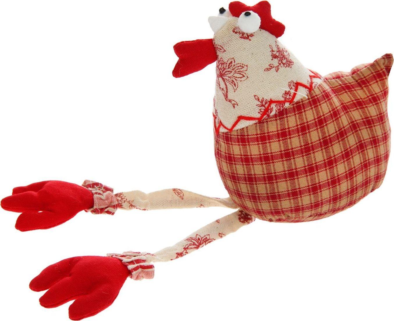 Sima-land Мягкая игрушка Курочка с висячими лапками 1047977 sima land мягкая игрушка глазастый петушок в шарфе и с бантиком
