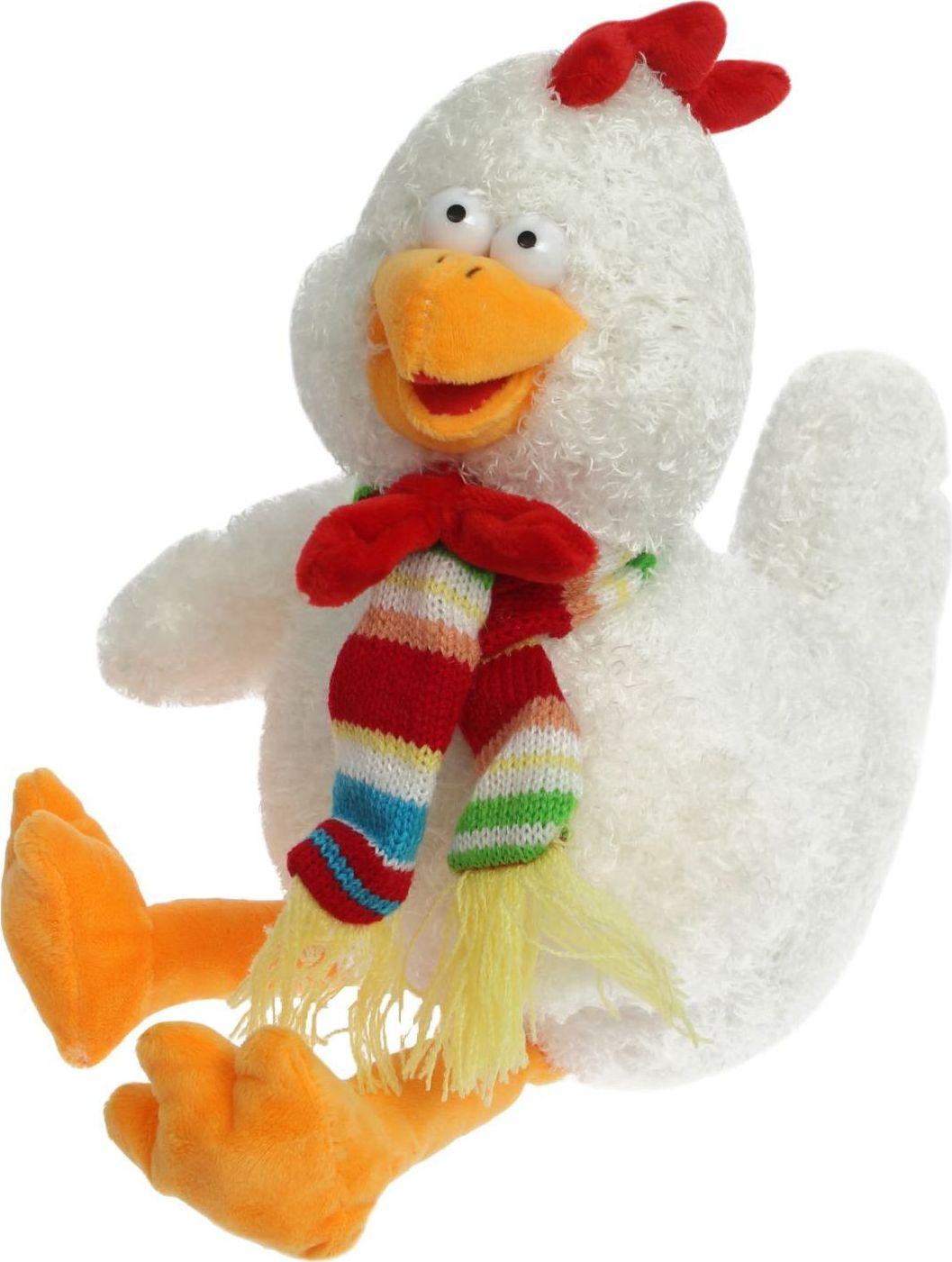 Sima-land Мягкая игрушка Глазастый петушок в шарфе и с бантиком sima land мягкая игрушка глазастый петушок в шарфе и с бантиком