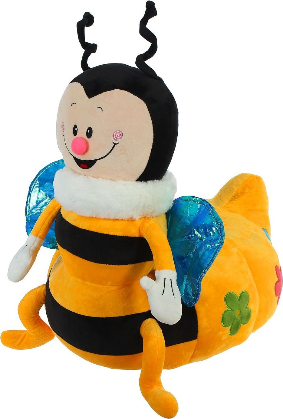 Sima-land Мягкая игрушка-кресло Пчелка цвет черный желтый