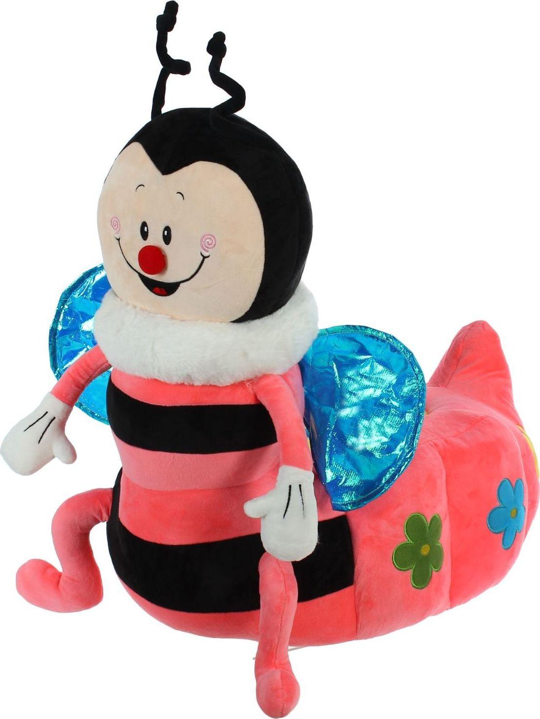 Sima-land Мягкая игрушка-кресло Пчелка цвет черный розовый