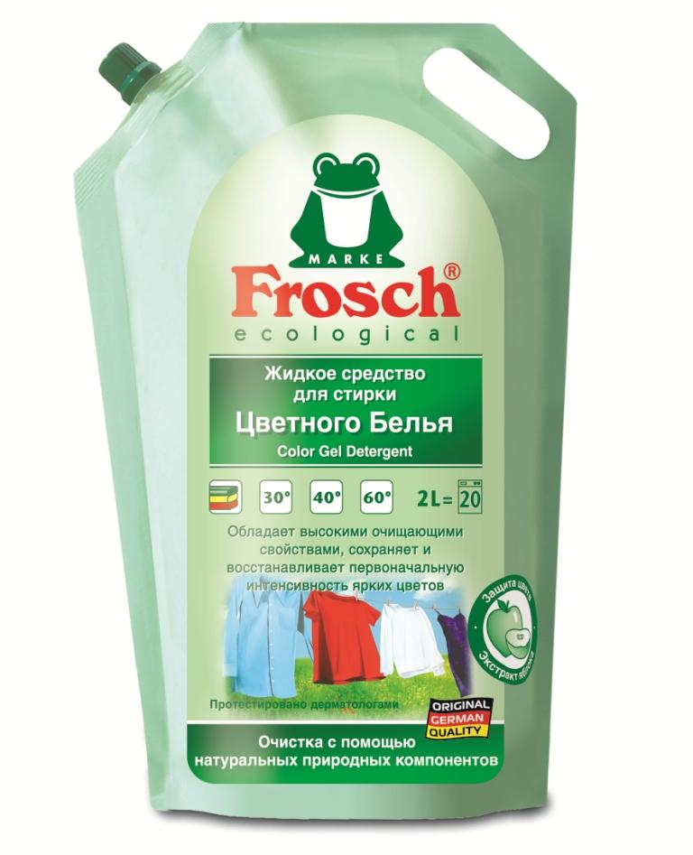 Жидкое средство для стирки Frosch, для цветного белья, 2 л709332Жидкое средство Frosch предназначено для стирки цветных и темных тканей при температуре от 20°C до 60°С. Благодаря составу с экстрактом яблока и специальной добавке для длительной защиты красок, вещи меньше выцветают и линяют. Кристальная чистота и восстановление цвета ткани - ваши поблекшие вещи будут выглядеть как новые. Подходит для предварительной обработки трудновыводимых пятен. Порошок предназначен как для машинной, так и для ручной стирки.Торговая марка Frosch специализируется на выпуске экологически чистой бытовой химии. Для изготовления своей продукции Frosch использует натуральные природные компоненты. Ассортимент содержит все необходимое для бережного ухода за домом и вещами. Продукция торговой марки Frosch эффективно удаляет загрязнения, оберегает кожу рук и безопасна для окружающей среды. Характеристики: Объем: 2 л. Товар сертифицирован.Уважаемые клиенты! Обращаем ваше внимание на возможные изменения в дизайне упаковки. Качественные характеристики товара остаются неизменными. Поставка осуществляется в зависимости от наличия на складе.