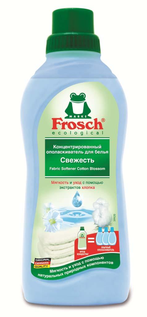Ополаскиватель для белья Frosch, концентрированный, 750 мл531-402Ополаскиватель для белья Frosch с помощью активных веществ на растительной основесмягчает волокна ткани, защищает их и сохраняет воздухопроницаемость белья. Средство подходит для хлопка, шерсти, вискозы, меланжевой ткани и синтетических волокон (например, эластана). Содержит натуральные отдушки, которые снижают риск появления раздражения на коже. Не содержит фосфата и формальдегида. Торговая марка Frosch специализируется на выпуске экологически чистой бытовой химии. Для изготовления своей продукции Froschиспользует натуральные природные компоненты. Ассортимент содержит все необходимое для бережного ухода за домом и вещами. Продукция торговой марки Frosch эффективно удаляет загрязнения, оберегает кожу рук и безопасна для окружающей среды. Характеристики: Объем: 750 мл. Производитель:Германия. Товар сертифицирован.