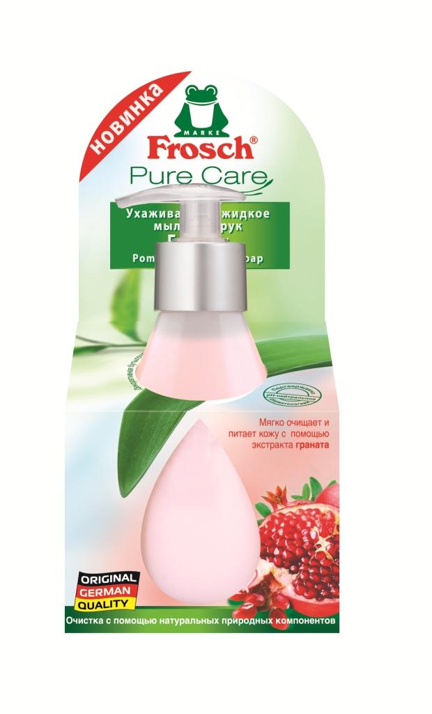 Жидкое мыло Frosch Гранат, ухаживающее, 300 млMP59.3DЖидкое мыло Frosch Гранат благодаря формуле с увлажняющим экстрактом граната мягко очищает и защищает кожу от высыхания при каждом мытье рук. Мыло имеет нейтральный для кожи рН и обладает приятным ароматом.Торговая марка Frosch специализируется на выпуске экологически чистой бытовой химии. Для изготовления своей продукции Froschиспользует натуральные природные компоненты. Ассортимент содержит все необходимое для бережного ухода за домом и вещами. Продукция торговой марки Frosch эффективно удаляет загрязнения, оберегает кожу рук и безопасна для окружающей среды. Характеристики: Объем: 300 мл. Изготовитель: Германия. Товар сертифицирован.Уважаемые клиенты! Обращаем ваше внимание на возможные изменения в дизайне упаковки. Качественные характеристики товара остаются неизменными. Поставка осуществляется в зависимости от наличия на складе.