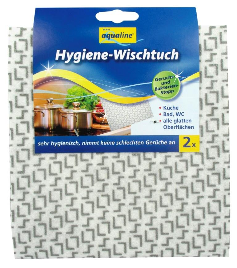Салфетка гигиеническая Aqualine для уборки, с нано-серебром, 2 штK100Гигиеническая салфетка Aqualine предназначена для уборки. Она эффективно удаляет любые загрязнения на кухне, в ванной, туалете и любых гладких поверхностях. Благодаря частицам нано-серебра салфетка обеспечивает эффективную защиту от бактерий и препятствует образованию неприятного запаха. Салфетка не теряет антибактериальных свойств даже после многократного применения. Она отличается прочностью, что обеспечивает долгий срок службы изделия. Можно стирать при температуре 60 °С. Характеристики:Материал: 91% вискоза, 9% полиэстер. Размер салфетки:70 см х 17,5 см. Комплектация:2 шт. Производитель:Германия. Артикул:2159.
