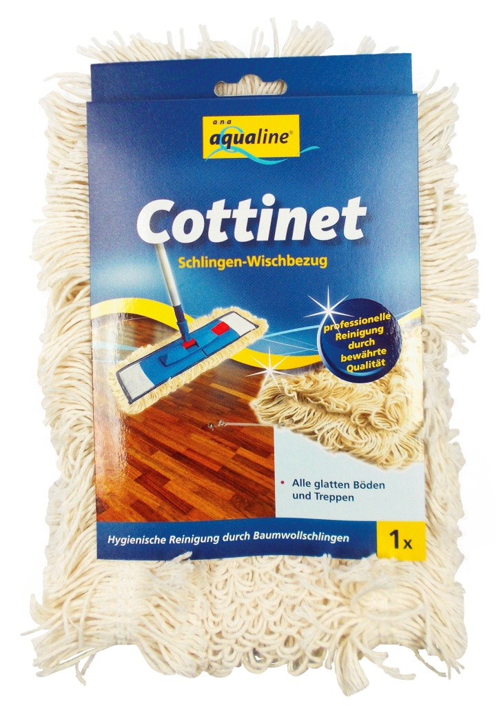 Насадка петлистая Aqualine Cottinet для плоской швабры132147Сменная насадка Aqualine Cottinet подходит ко всем плоским швабрам с размером держателя 42 см. Благодаря комбинации из трех разных волокон - хлопкового и специального микро волокна, нити которых зафиксированы пучками, материал легко вбирает в себя крупный и мелкий мусор, а также воду с пола. Грязь с насадки легко удаляется путем споласкивания. Мягкая на ощупь насадка легко выжимается и долго служит. Подходит для сухой и влажной уборки. Насадку можно стирать при температуре 60-90°С. Характеристики:Материал:хлопок, полиэстер-микроволокно. Размер насадки:41 см х 12 см. Рекомендуемая длина держателя:42 см. Производитель: Германия. Артикул:9345.Уважаемые клиенты! Обращаем ваше внимание на возможные изменения в дизайне упаковки. Качественные характеристики товара остаются неизменными. Поставка осуществляется в зависимости от наличия на складе.