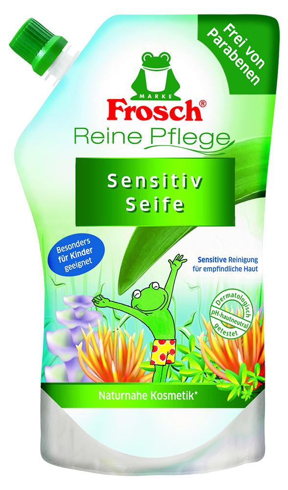 Жидкое детское мыло для рук Frosch, ухаживающее, сменная упаковка, 500 млSatin Hair 7 BR730MNДетское мыло для рук Frosch - это мягко ухаживающеемыло, нежные увлажняющие компоненты которого специально разработаны под различные потребности чувствительной детской кожи. Ухаживающее детское мыло Frosch при каждом мытье рук защищает кожу от пересушивания. Кроме того, питательные, смягчающие компоненты сохраняют естественную защиту кожи и дают приятное ощущение мягкости.Эту нежную концепцию дополняет мягкий цветочный аромат. Мыло pH-нейтрально для кожи и проверено дерматологами. Характеристики:Объем: 500 мл. Производитель: Германия. Товар сертифицирован.Уважаемые клиенты! Обращаем ваше внимание на возможные изменения в дизайне упаковки. Качественные характеристики товара остаются неизменными. Поставка осуществляется в зависимости от наличия на складе.
