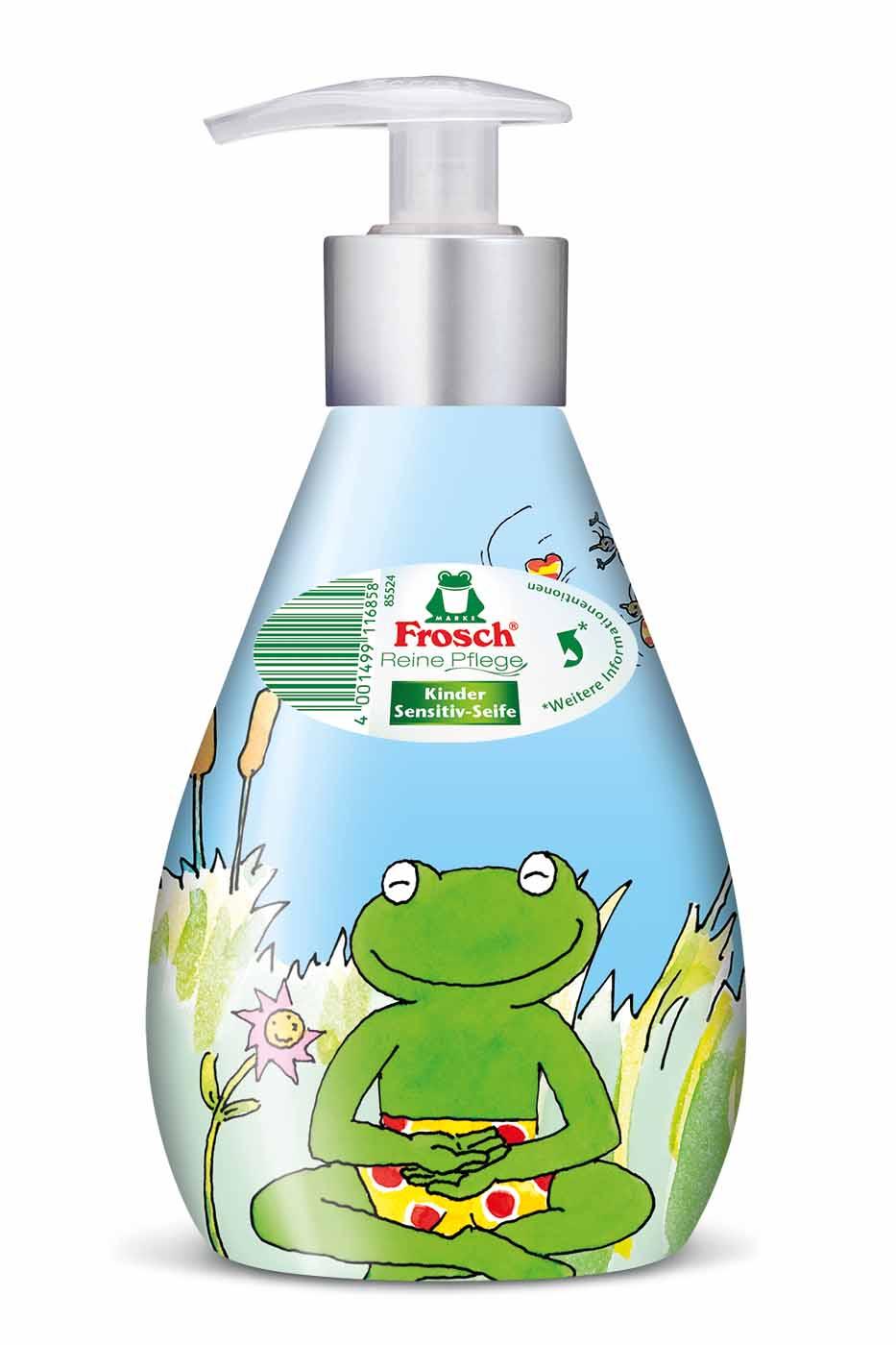 Жидкое детское мыло для рук Frosch, ухаживающее, 300 млSatin Hair 7 BR730MNДетское мыло для рук Frosch - это мягко ухаживающее мыло, нежные увлажняющие компоненты которого специально разработаны под различные потребности чувствительной детской кожи. Ухаживающее детское мыло Frosch при каждом мытье рук защищает кожу от пересушивания. Кроме того, питательные, смягчающие компоненты сохраняют естественную защиту кожи и дают приятное ощущение мягкости.Эту нежную концепцию дополняет мягкий цветочный аромат. Мыло pH-нейтрально для кожи и проверено дерматологами. Кожно-раздражающее и сенсобилизирующее действие отсутствует.Предназначено для детей от 3-х лет. Характеристики:Состав: вода, лаурил сульфат натрия, глицерин, хлорид натрия, кокамидопропилбетаин, глицерил олеат, коко-глюкозаид, лимонная кислота, салициловая кислота, бензоат натрия, ароматизирующие добавки. Объем: 300 мл. Артикул: 101685. Торговая марка Frosch специализируется на выпуске экологически чистой бытовой химии. Для изготовления своей продукции Frosch использует натуральные природные компоненты. Ассортимент содержит все необходимое для бережного ухода за домом и вещами. Продукция торговой марки Frosch эффективно удаляет загрязнения, оберегает кожу рук и безопасна для окружающей среды.Уважаемые клиенты! Обращаем ваше внимание на возможные изменения в дизайне упаковки. Качественные характеристики товара остаются неизменными. Поставка осуществляется в зависимости от наличия на складе.
