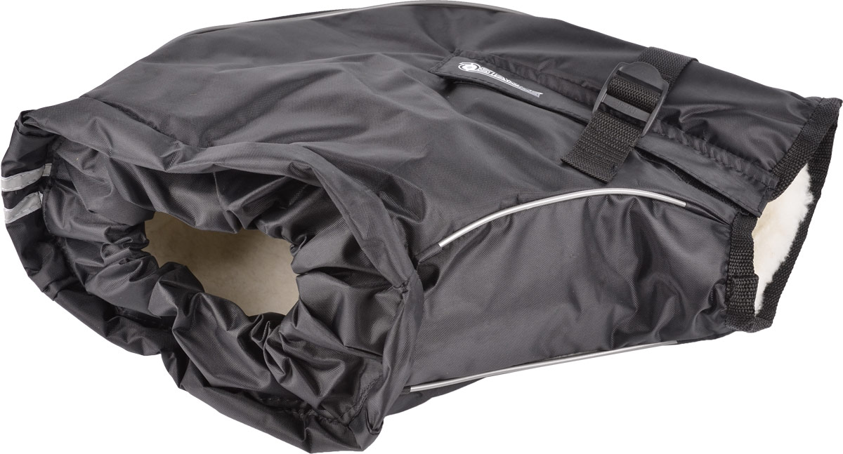 Муфта на руль Starks Warm 35, цвет: черный. ЛЦ0034. Размер S/Mone116Универсальная защитная муфта Starks Warm 35 на руль подходит для любой мототехники: снегоход, квадро, мото, питбайк, кросс.Муфта производится в двух размерах:1. S/M-подойдет на любой руль не снабженный защитными щитками и малокубатурнойтехники;2. L/XL-подойдет на любой руль с защитой и без. для техники с любым размеров руля.Водонепроницаемый наружный материал - защита от воды, холода, грязи.Внутренняя часть - мех, который согревает руки.Дополнительный разъем позволяет установку на руль с зеркалами.Стропа фиксируется муфту на руле. Уплотнительная резинка в районе запястья исключает попадание холодного воздуха, влаги, что обеспечивает сохранение тепла.Муфта имеет светоотражающий кант и двойную светоотражающую ленту по фронтальной части.Антибактериальный, гипоаллергенный мех.Состав: 80% мех натуральный, 20% полиэстер. Наружная ткань: 100% полиэстер.