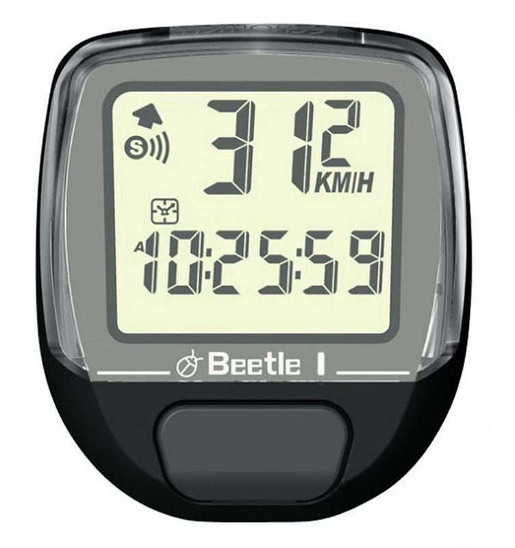 Велокомпьютер Echowell Beetle-1, 5 функций, цвет: черный010-01419-00Проводной велокомпьютер Echowell Beetle 1 с пятью функциями в стильном корпусе предназначен для использования при занятиях велоспортом, велотуризмом и просто катании на велосипеде. Это удобный и простой в использовании электронный прибор, предоставляющий велосипедисту всю необходимую информацию о поездке. Имеет отличную водо и пылезащиту.Велокомпьютер состоит из двух частей соединенных проводом - дисплея, внешне похожего на электронные часы и датчика скорости. Дисплей крепится на руле с возможностью мгновенно отсоединить его, когда нет желания оставлять на велосипеде без присмотра или под дождем. Магнитный датчик скорости (геркон) крепится рядом с колесом.Велокомпьютер определяет скорость движения с точностью до десятых долей, дистанцию - с точностью до 10 метров. На дисплее функции поочередно сменяют друг друга. Все операции и настройки выполняются одной кнопкой.Функции: - Текущая скорость- Средняя скорость- Время - Дистанция - Одометр Водо и пылезащита Питание: от литиевой батарейки типа CR2032 (входит в комплект)