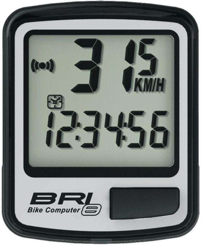 Велокомпьютер Echowell BRI-8, 8 функций, цвет: серыйBRI-8Проводной велокомпьютер Echowell BRI-8 с восемью функциями в стильном корпусе предназначен для использования при занятиях велоспортом, велотуризмом и просто катании на велосипеде. Это удобный и простой в использовании электронный прибор, предоставляющий велосипедисту всю необходимую информацию о поездке. Имеет отличную водо и пылезащиту.Велокомпьютер состоит из двух частей соединенных проводом - дисплея, внешне похожего на электронные часы и датчика скорости. Дисплей крепится на руле с возможностью мгновенно отсоединить его, когда нет желания оставлять на велосипеде без присмотра или под дождем. Магнитный датчик скорости (геркон) крепится рядом с колесом.Велокомпьютер определяет скорость движения с точностью до десятых долей, дистанцию - с точностью до 10 метров. На дисплее функции поочередно сменяют друг друга. Все операции и настройки выполняются одной кнопкой.Функции: - Скорость текущая- Скорость средняя- Скорость максимальная- Дистанция поездки- Одометр- Время поездки- Часы- Скан (функция скан задействует режим показа всех функций на дисплее компьютера поочередно)Водо и пылезащита Питание: от литиевой батарейки типа CR2032 (входит в комплект)