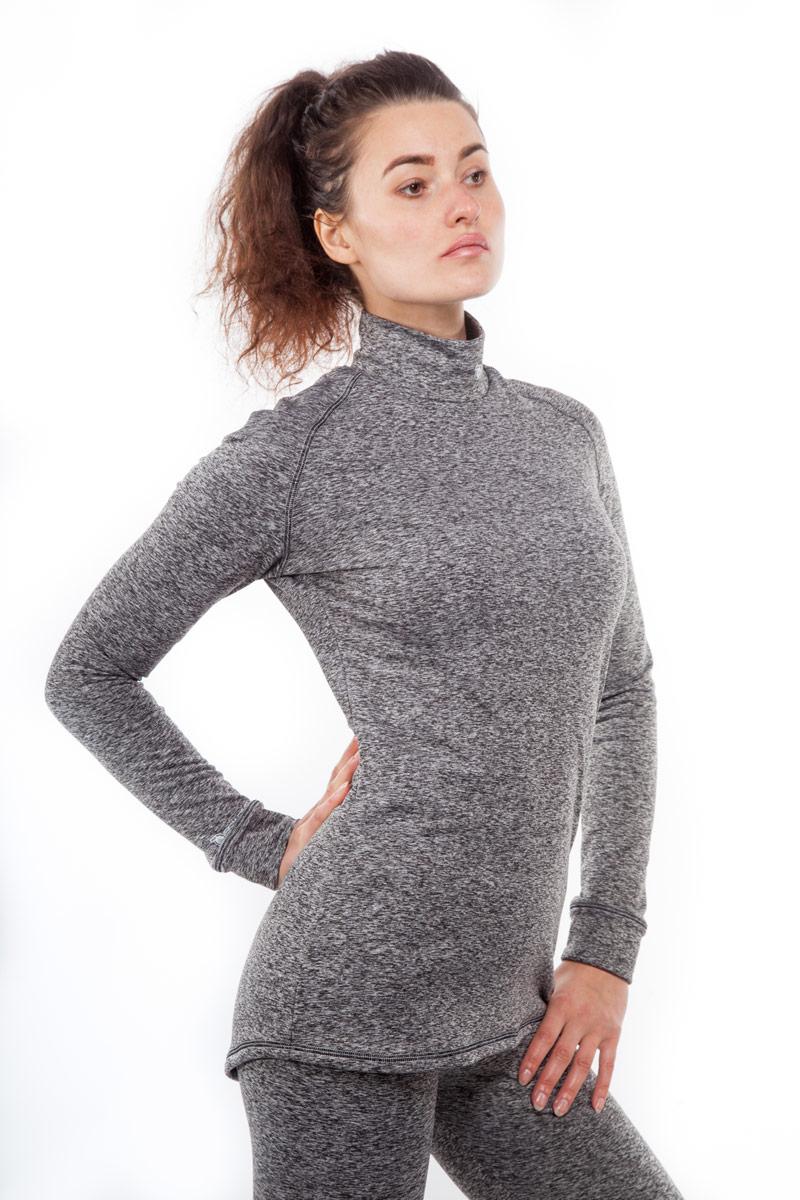 Термобелье кофта женская Starks Warm, зимняя, цвет: серый. Размер Sone116Кофта женская Starks Warm предназначена для активных физических нагрузок в зимнее время года, например, для рыбалки, бега, катания на лыжах и сноуборде, альпинизма. Кофта изготовлена из гипоаллергенного материала (92% полиэстера с добавлением 8% эластана). Ткань пропитана ионами серебра, что предотвращает образование и развитие бактерий. Высокие эластичные свойства материала позволяют модели максимально повторять индивидуальную анатомию тела и создавать эффект второй кожи. Отличные влагоотводящие свойства позволяют телу оставаться сухим. Высокие термоизоляционные свойства исключают переохлаждение или перегрев. Воротник-стойка обеспечивает защиту шеи от холода. Система мягких и плоских швов гарантирует комфорт и при повседневной носке.