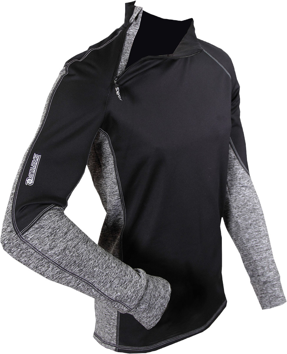 "Термобелье кофта Starks ""Warm Extreme"", зимняя, цвет: черный, серый. ЛЦ0012. Размер M"