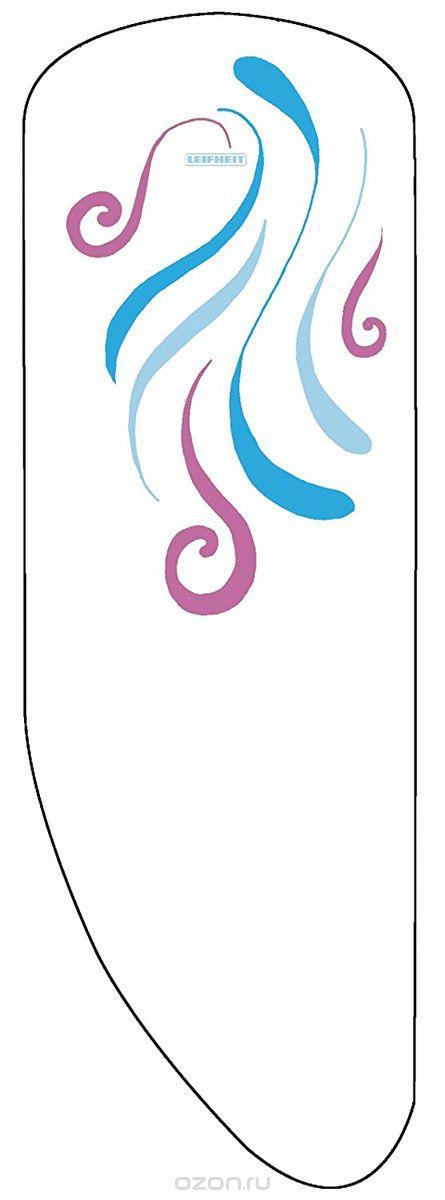 Чехол для гладильной доски Leifheit Dressfix XL, на веревке, цвет: белый, фиолетовый, голубой, 140 х 40 см. 7232872328_белый, фиолетовый, голубойХлопчатобумажный чехол Leifheit Dressfix XL отличается особой конфигурацией, соответствующей формам доски для глажки большого размера модели XL. Материал покрытия свободно пропускает микрочастицы влаги при использовании паровых утюгов, а прослойка из вспененного полиуретана обеспечивает особое удобство и высокое качество глажения. Для надежной фиксации на поверхности доски периметр покрытия оснащен затягивающимся шнуром. При выборе чехла учитывайте, что его размер должен быть больше размера покрытия доски минимум на 5 см. Рекомендуется заменять чехол не реже 1 раза в 3 года. Размер чехла: 140 х 40 см.