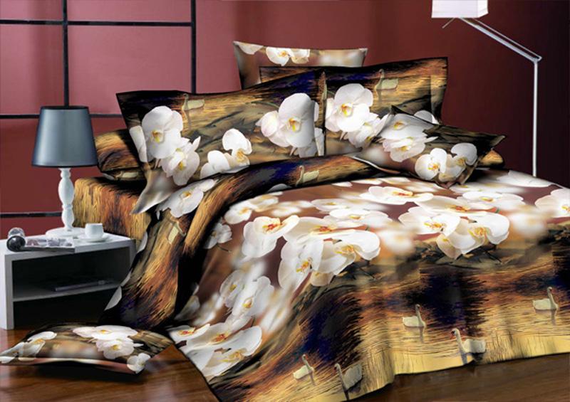 Комплект белья ЭГО Вечер, 2-спальный, наволочки 70x70391602Комплект белья ЭГО выполнен из полисатина (50% хлопка, 50% полиэстера). Комплект состоит из пододеяльника, простыни и двух наволочек. Постельное белье имеет изысканный внешний вид и яркую цветовую гамму. Гладкая структура делает ткань приятной на ощупь, мягкой и нежной, при этом она прочная и хорошо сохраняет форму. Ткань легко гладится, не линяет и не садится. Приобретая комплект постельного белья ЭГО, вы можете быть уверенны в том, что покупка доставит вам и вашим близким удовольствие и подарит максимальный комфорт.