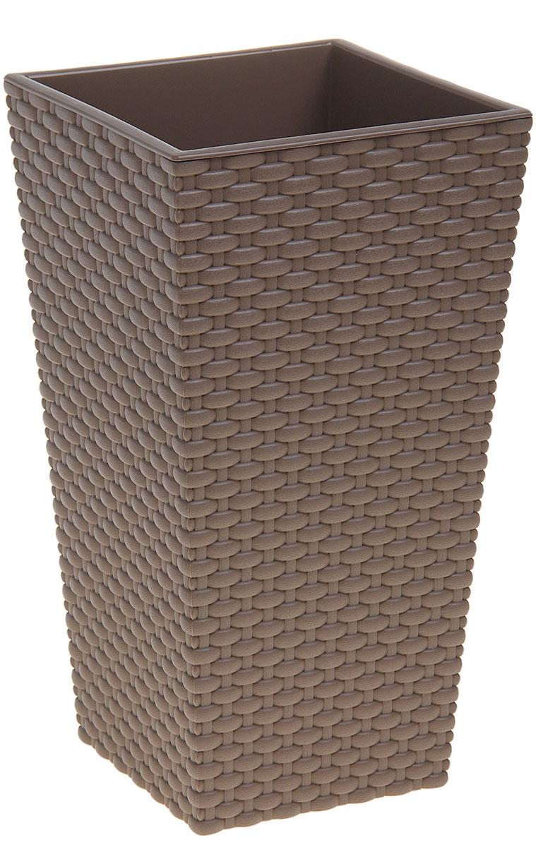 Кашпо Idea Ротанг, цвет: коричневый, 19,5 х 19,5 х 36 смKOC_SOL209Любой, даже самый современный и продуманный интерьер будет не завершённым без растений. Они не только очищают воздух и насыщают его кислородом, но и заметно украшают окружающее пространство. Такому полезному &laquo члену семьи&raquoпросто необходимо красивое и функциональное кашпо, оригинальный горшок или необычная ваза! Мы предлагаем - Кашпо 19,8х19,8х36 см Ротанг 6 л, цвет бежевый!Оптимальный выбор материала &mdash &nbsp пластмасса! Почему мы так считаем? Малый вес. С лёгкостью переносите горшки и кашпо с места на место, ставьте их на столики или полки, подвешивайте под потолок, не беспокоясь о нагрузке. Простота ухода. Пластиковые изделия не нуждаются в специальных условиях хранения. Их&nbsp легко чистить &mdashдостаточно просто сполоснуть тёплой водой. Никаких царапин. Пластиковые кашпо не царапают и не загрязняют поверхности, на которых стоят. Пластик дольше хранит влагу, а значит &mdashрастение реже нуждается в поливе. Пластмасса не пропускает воздух &mdashкорневой системе растения не грозят резкие перепады температур. Огромный выбор форм, декора и расцветок &mdashвы без труда подберёте что-то, что идеально впишется в уже существующий интерьер.Соблюдая нехитрые правила ухода, вы можете заметно продлить срок службы горшков, вазонов и кашпо из пластика: всегда учитывайте размер кроны и корневой системы растения (при разрастании большое растение способно повредить маленький горшок)берегите изделие от воздействия прямых солнечных лучей, чтобы кашпо и горшки не выцветалидержите кашпо и горшки из пластика подальше от нагревающихся поверхностей.Создавайте прекрасные цветочные композиции, выращивайте рассаду или необычные растения, а низкие цены позволят вам не ограничивать себя в выборе.